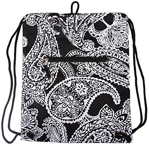 Gen SH Womens Nylon Backpack (Paisley - Black/white)