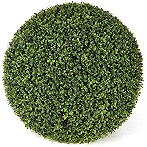 "SilksAreForever 20"" UV-Proof Outdoor Artificial Boxwood Topiary Ball -Green 94"