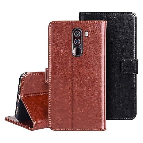 KISCO Para Funda Piel Xiaomi Pocophone F1,Magnética Cover Flip [Crazy Horse Texture] Funda Carcasa con Función Kickstand Card Slot para Xiaomi ...