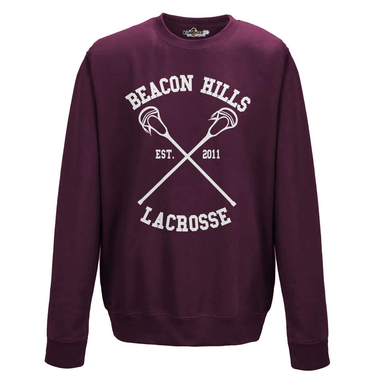 KiarenzaFD Felpa Girocollo Lacrosse Beacon Hills Stilinski McCall Lahey 11 Serie TV Uomo