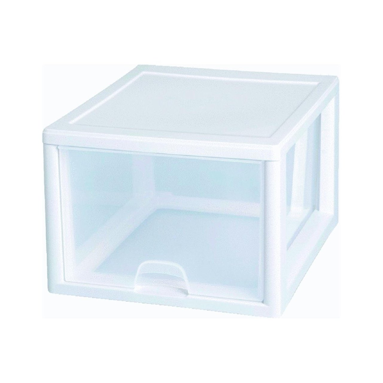 Amazon Com Sterilite   Quart Clear Stacking Drawer  Home Kitchen