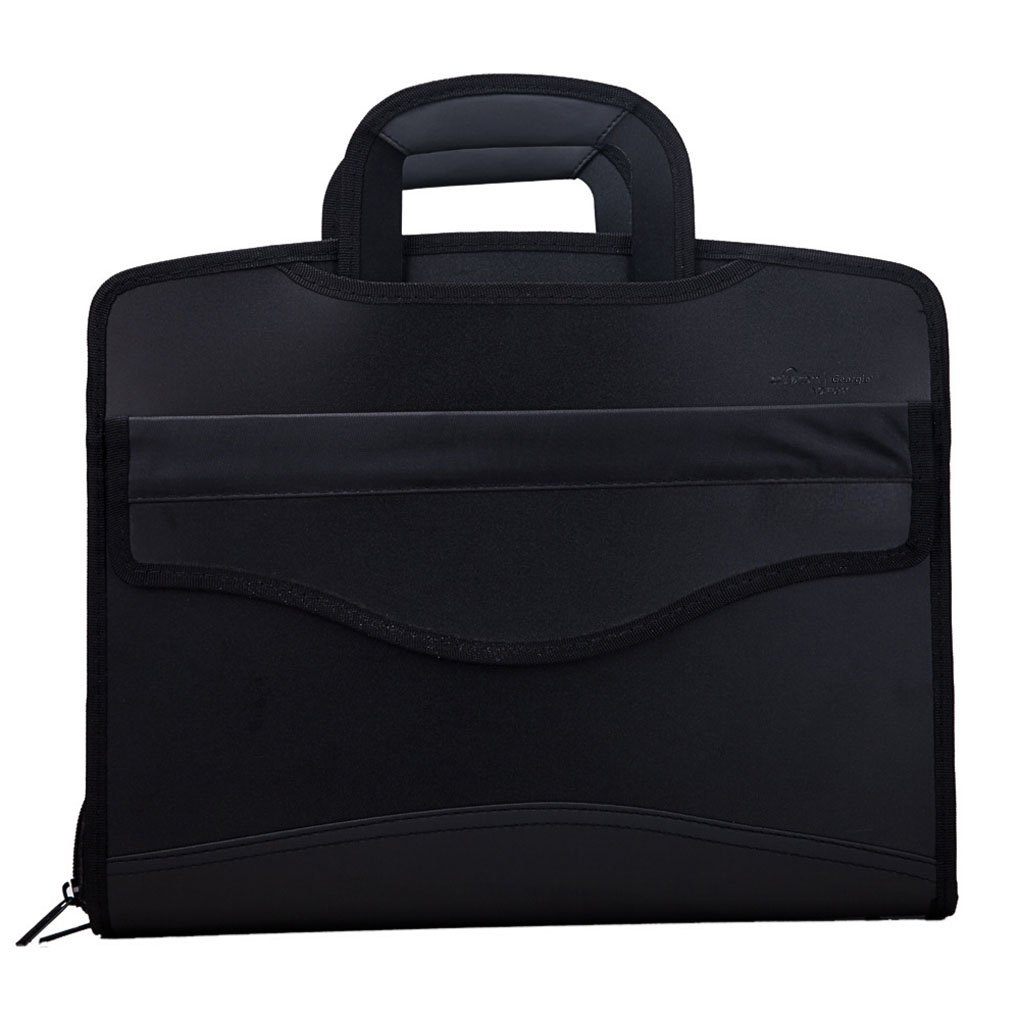 Professional Portable Multifunctional Business Envelope Expanding File Folder Laptop Bag Travel Briefcase Portfolio Document Holder Container Organizer Zipper Carrying Handbag Case Tote