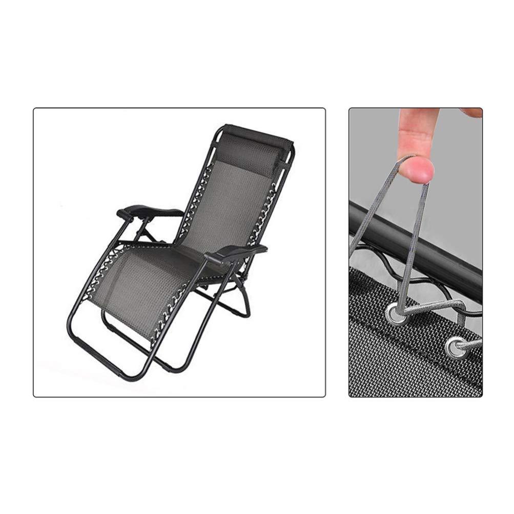 DOITOOL 4 Pezzi di sedie a Sdraio Elastiche di Ricambio Corda Lacci Bungee Lacci per sedie Cavi di Riparazione Elastici per Il Campeggio