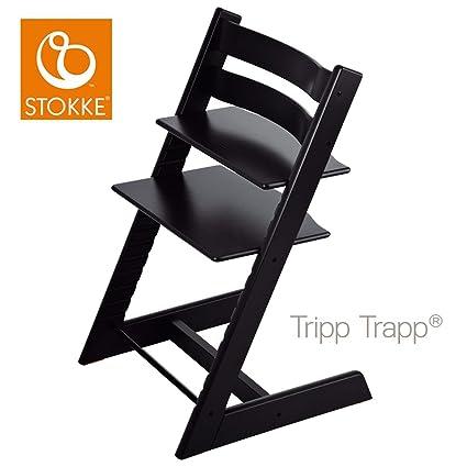 Stokke Chaise Haute Evolutive Tripp Trapp Noir Amazon Fr Bebes