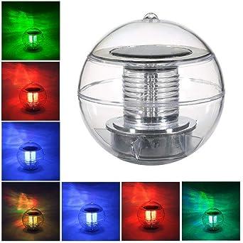 StillCool Poolbeleuchtung Floating Pool Light Solar Lampe LED Solar  Wasserdicht Schwimmende Pool Licht Unterwasser Farbwechsel RGB Ball Lampe  für den ...