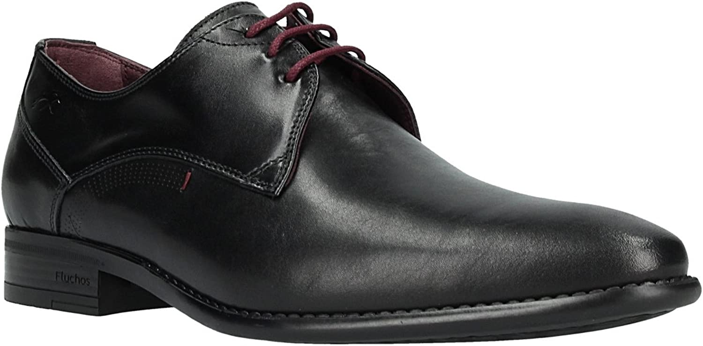 TALLA 45 EU. Zapato FLUCHOS 9204 Memory Negro Burdeos.