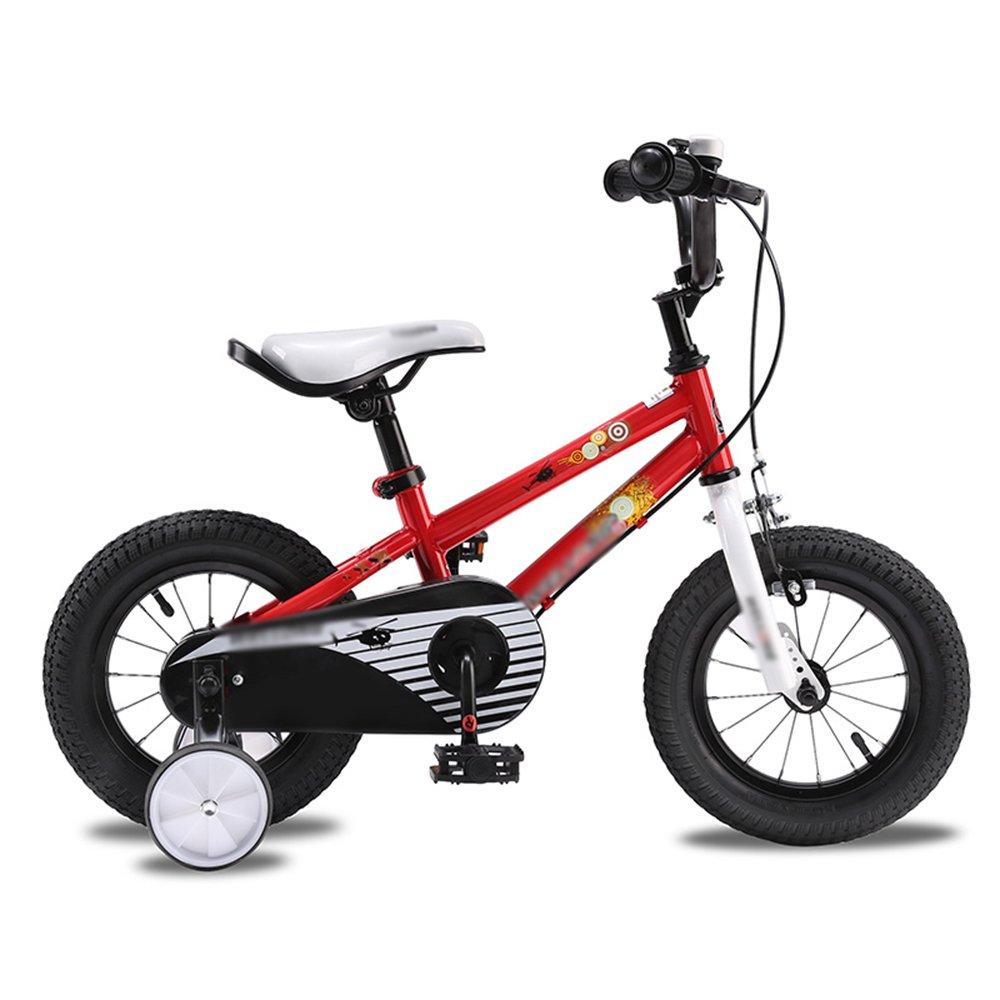 HAIZHEN マウンテンバイク 子供用自転車ベビーキャリッジ12/14/16インチマウンテンバイクオレンジホワイトレッドユニセックス 新生児 B07C6R3VBM 12インチ|赤 赤 12インチ