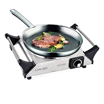 Merveilleux LOSCATO 1500W Portable Electric Cast Iron Cooktop Countertop Burner (Single  Burner)