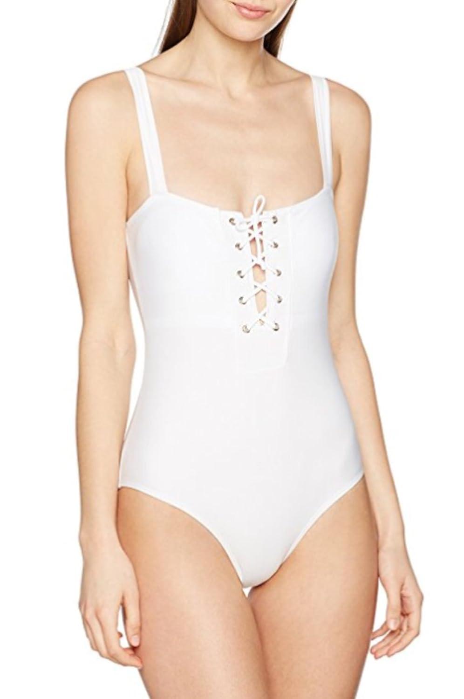 Millennium Star - GLAM weiß Frauen Badeanzug