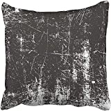 Staropor Throw Pillow Cover 18''X18'' Polyester Black Distress Distressed Overlay of Rusted Peeled Metal Grunge Abstract Halftone White Decorative Pillowcase Two Sides Deco for Home