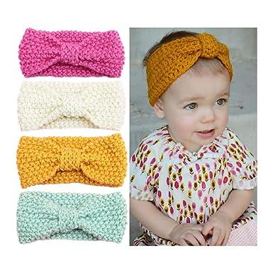 Amazon G Tree Baby Headband 4pcs Baby Girl Headband Bow Wool