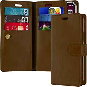 Leather Protection Cover for iPhone 11 Pro Wallet with Multi Pockets Case, Brown