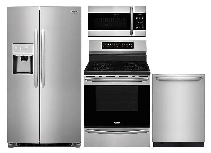 Amazon.com: Frigidaire Paquete de 4 piezas de cocina con ...