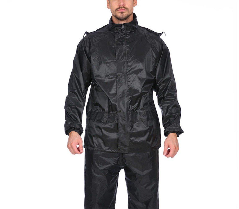Adulte Moto /électrique Voiture Imperm/éable Pantalon de Pluie Costume RFVBNM Hommes et Femmes ext/érieur R/éfl/échissant S/écurit/é Protection V/êtements de Pluie