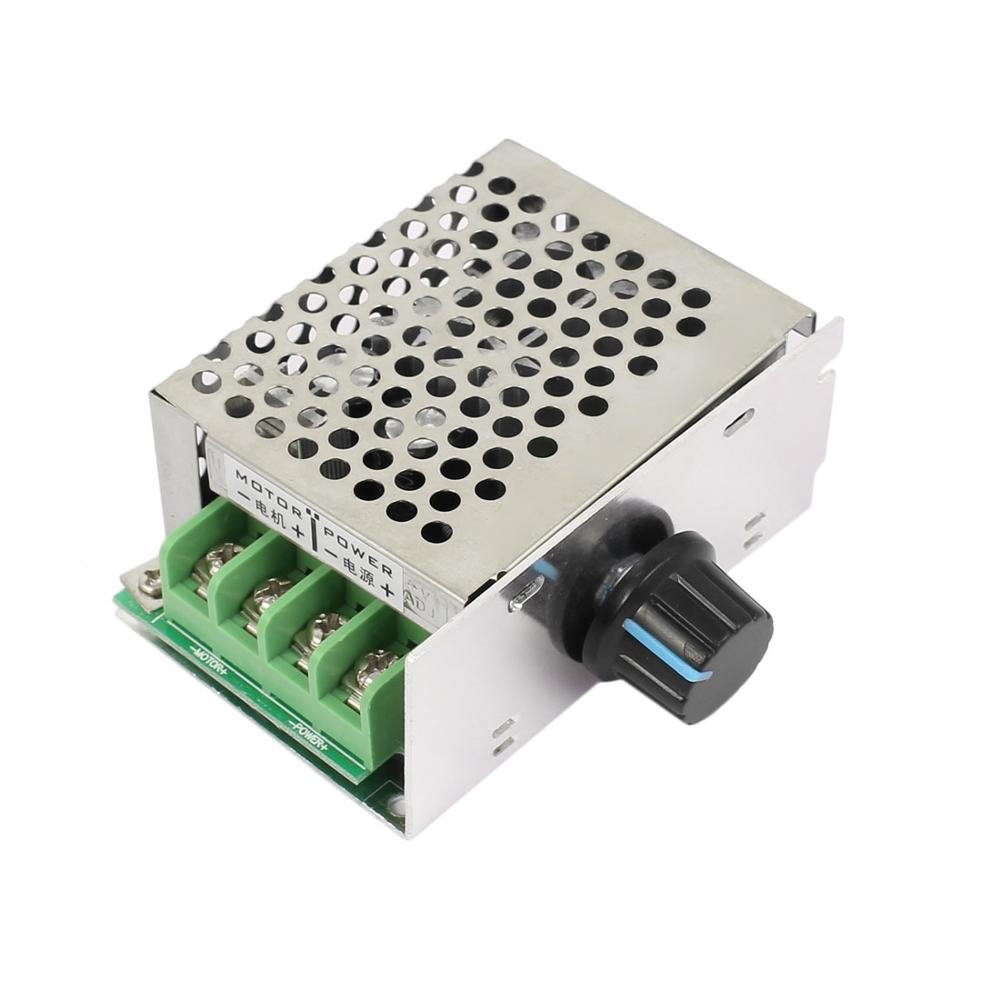 Guteauto 10-60V 20A Adjustable PWM DC Motor Speed Controller Regulator Switch with Reverse Polarity Protection