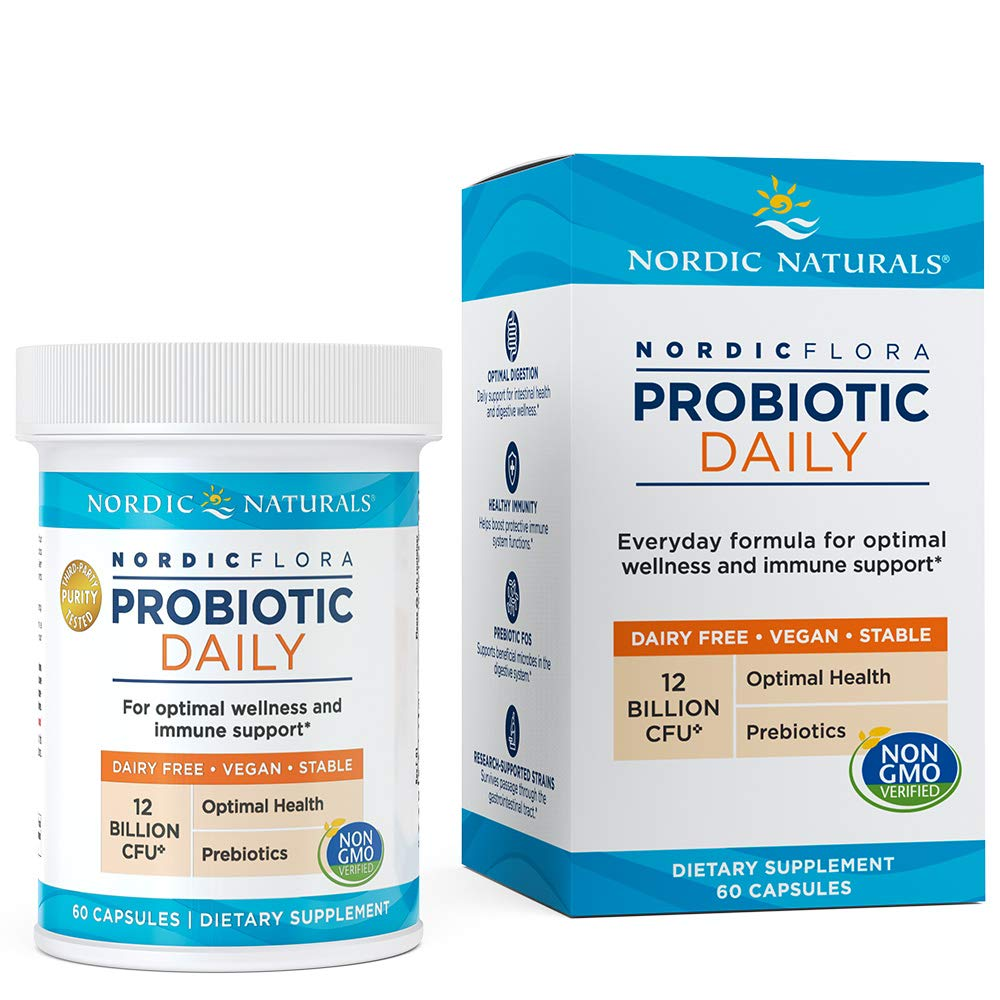 Nordic Naturals Nordic Flora Probiotic - Daily Probiotic for Intestinal Health, Digestion and Immune Health, 60 Count by Nordic Naturals