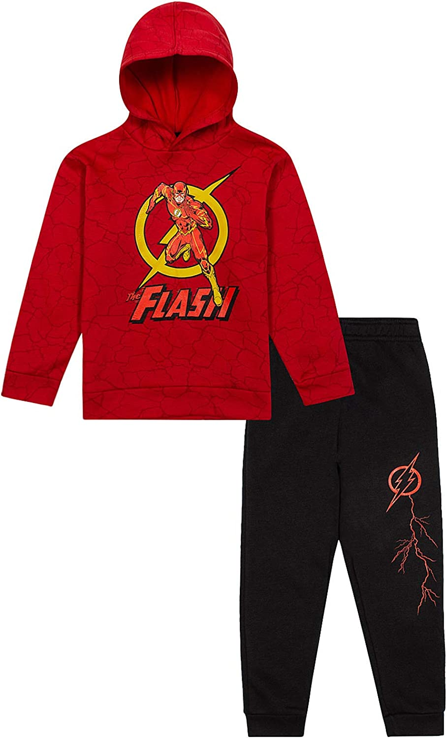 The Flash Kids Fleece Hooded Sweatshirt & Sweatpants 2 Piece...