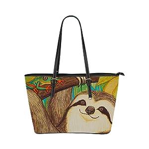 JIUDUIDODO Custom Otter PU leather Handbags Tote Bag Casual Bags Shopping Bags Shoulder Bags Lady (Small)