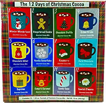 christmas sampler gift 12 days of coffees teas or cocoas hot chocolate for