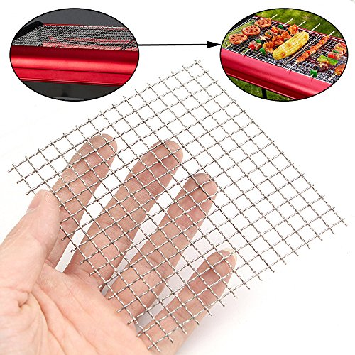 Rsvp Sheet Set (10x10cm Woven Wire 304 Stainless Steel Filtration Grill Sheet Filter 4 Mesh ZevenMart)