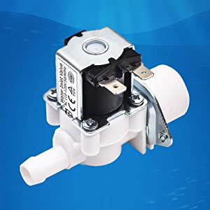 "Beduan Water Solenoid Valve, AC 110V 3/4"" Male to 1/2"" Barb Water Flow Control Valve Washing Machine Replacement Part Normally Closed"