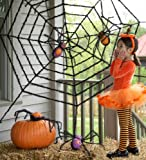 Spooky, Sparkly Spiders Halloween Decoration, Set of 2