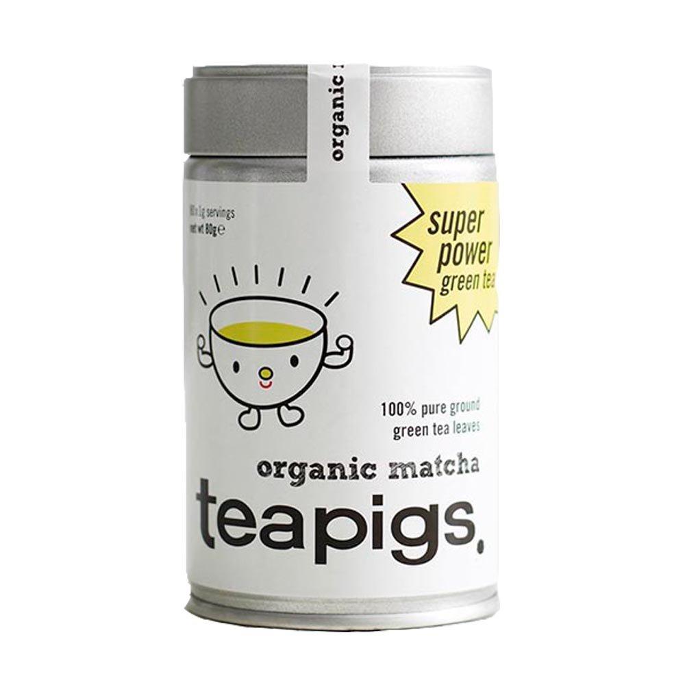 teapigs Organic Matcha Tea Tin, 80 Gram by teapigs