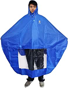 NAVADEAL Waterproof Rain Cape Mobility Scooter Cover Rainproof Coating Hooded Raincoat Rainwear Poncho, Great Rain Gear for Motorized Scooter, Power Wheelchair, Bike, Keep You Dry in Rainy Days