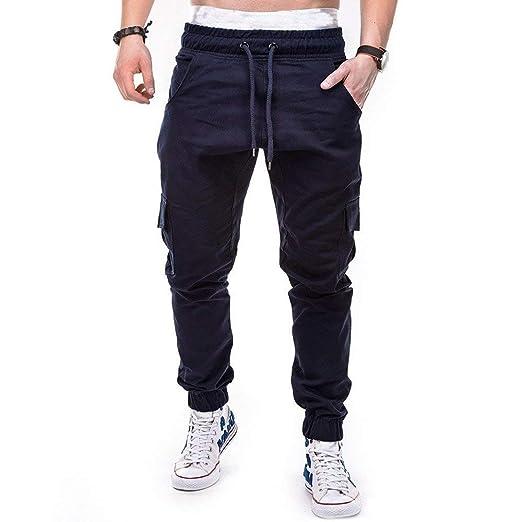 Qiusa Pantalones de chándal para hombres, pantalones deportivos ...