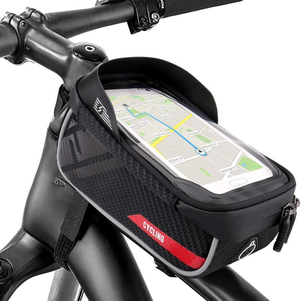 Fahrrad Rahmentasche Handyhalterung wasserdichte Lenkertasche TPU Touchschirm