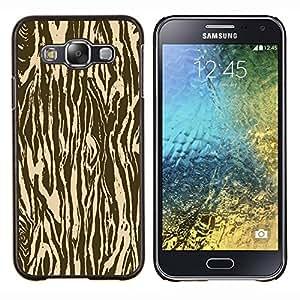 YiPhone /// Prima de resorte delgada de la cubierta del caso de Shell Armor - Zebra Madera Animal Patrón de Brown - Samsung Galaxy E5 E500
