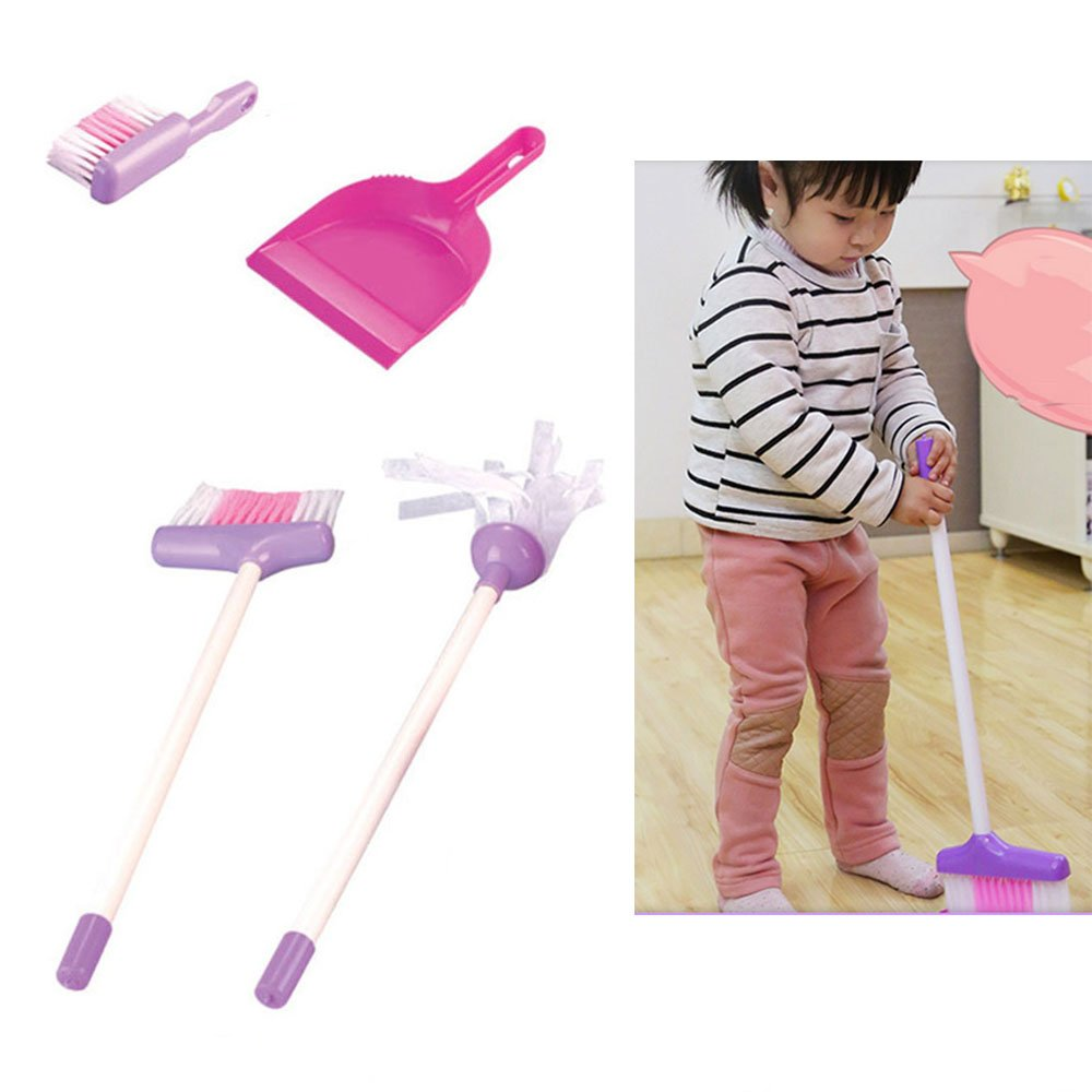 Little Helper ! Kids Cleaning Set for Toddlers,Includes 5 Cleaning Toys Broom & Mop,Brush,Dust Pan,Water Bucket Gift Set Bundle by C360 (Image #7)