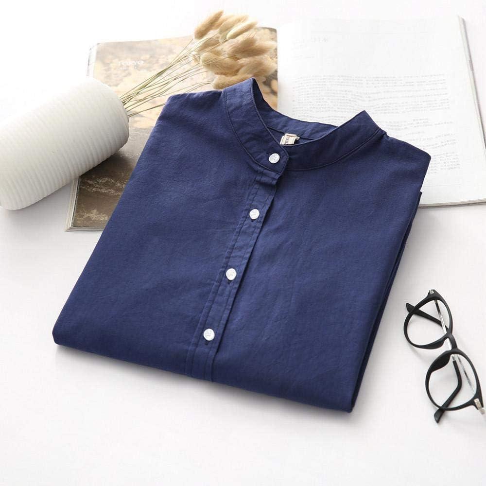 VJGOAL Camisas de Mujer Botones de Color sólido de Moda Tops ...