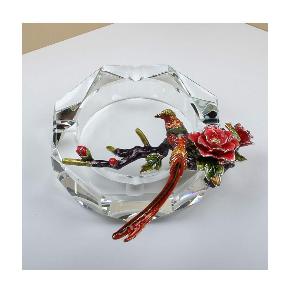 Creative Luxury Ashtray Crystal Glass Ashtray Decoration High-end Business Gifts 16.5X14cm
