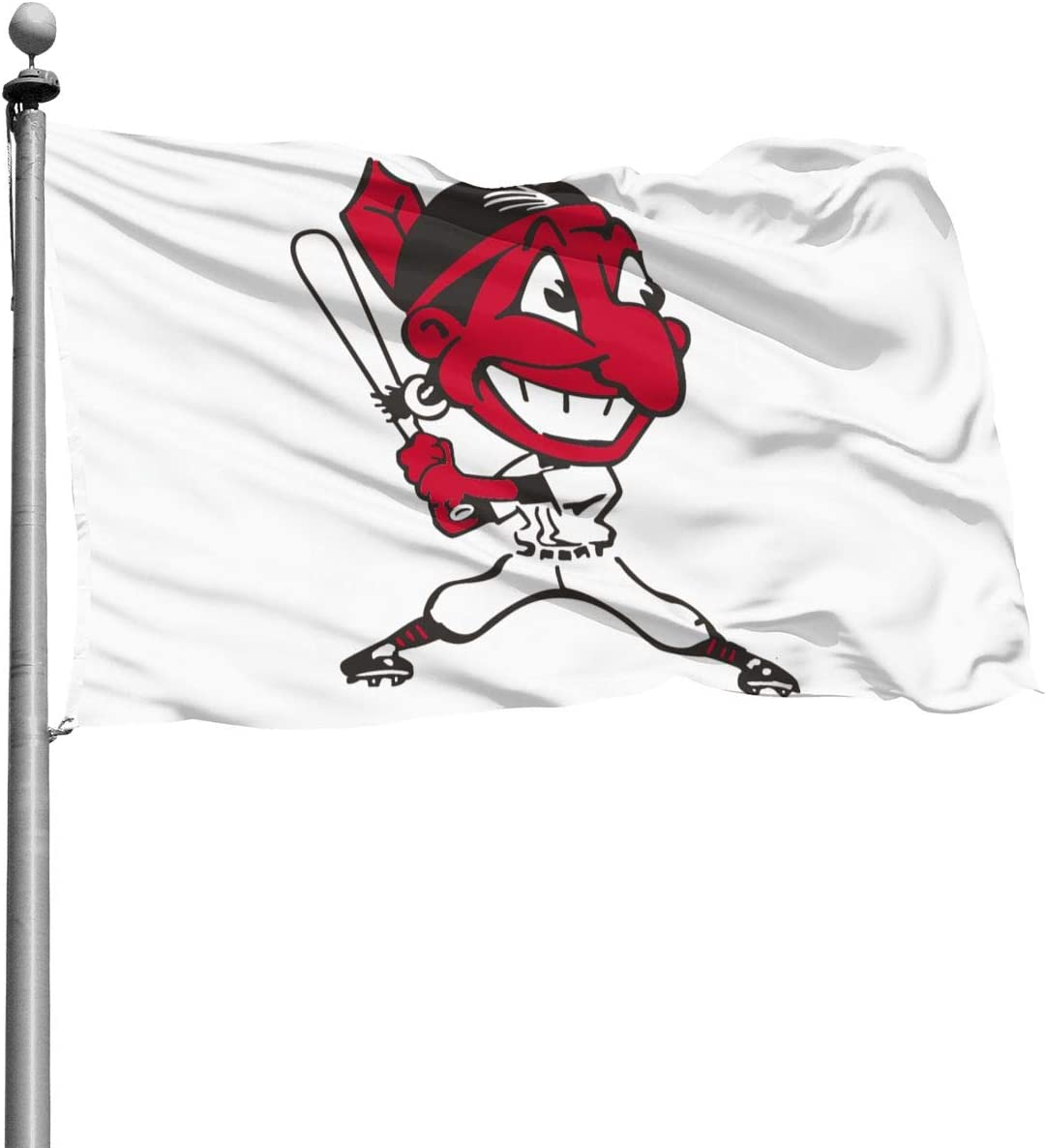 Qq6-earn-store Chief Wahoo Home Decoration Flag Garden Flag Indoor Outdoor Flag 4x6 Ft