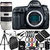 Canon EOS 5D Mark IV DSLR Camera w/EF 70-200mm f/2.8L IS II USM Lens - International Version (No Warranty) 27PC Accessory Bundle. Includes 64GB Memory Card, 2 Replacement LP-E6 Batteries, MORE