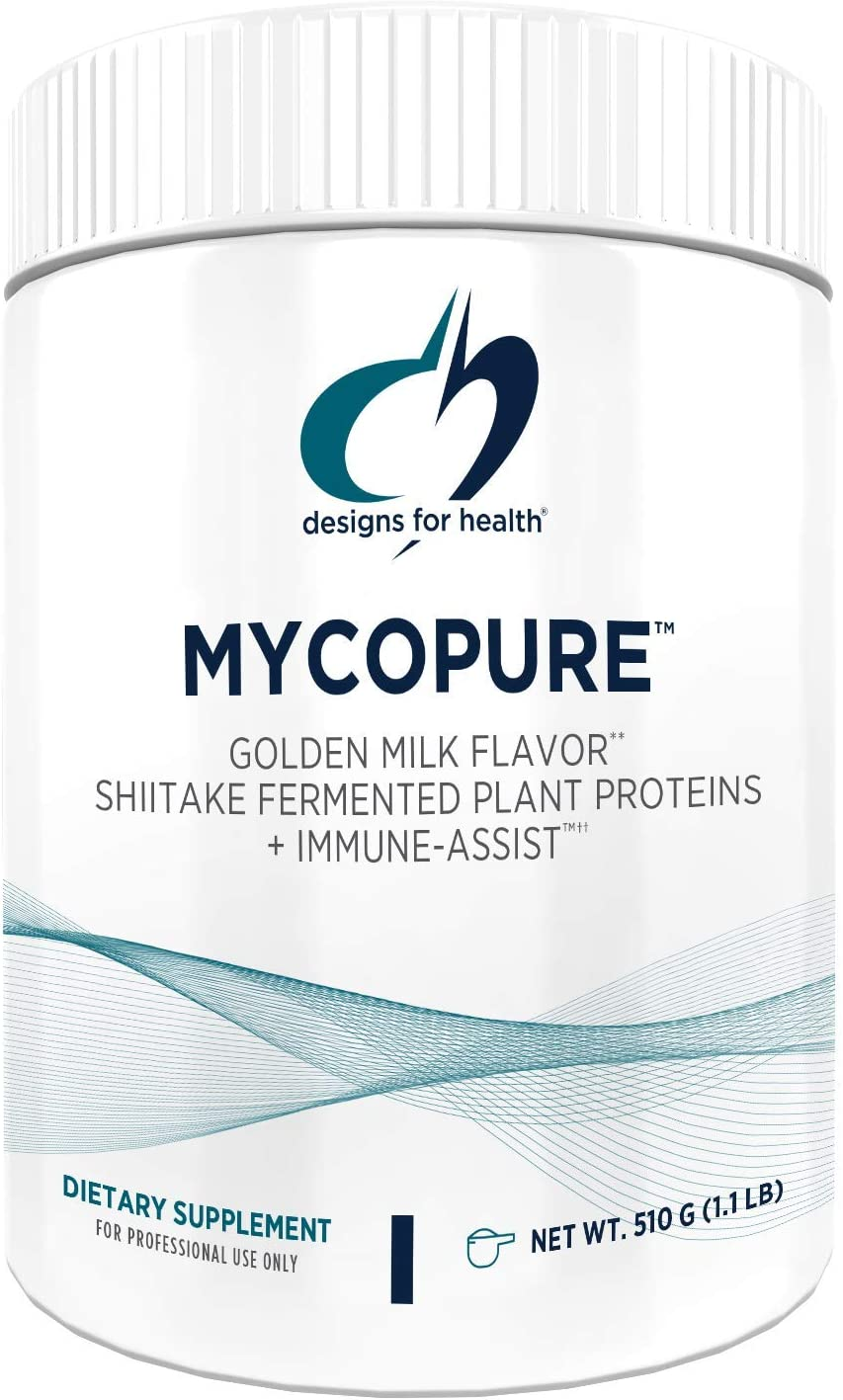 Designs for Health MycoPure Golden Milk Mushroom Protein – Keto Vegan 1.1lb 15 Servings
