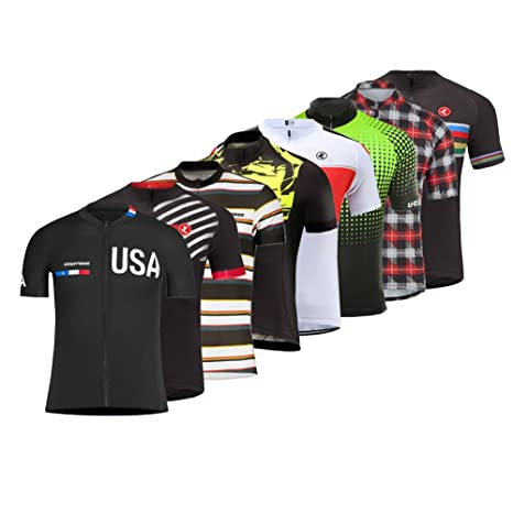 Image Unavailable. Image not available for. Color  Uglyfrog 2018 Men s  Cycling Jersey Suit Short Sleeve ... 95a194fea