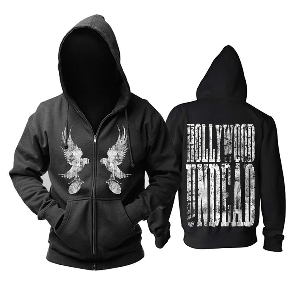 YOURNELO Unisex Hollywood Undead Fleece Lined Hoodie Zip Sweatshirt Jumper