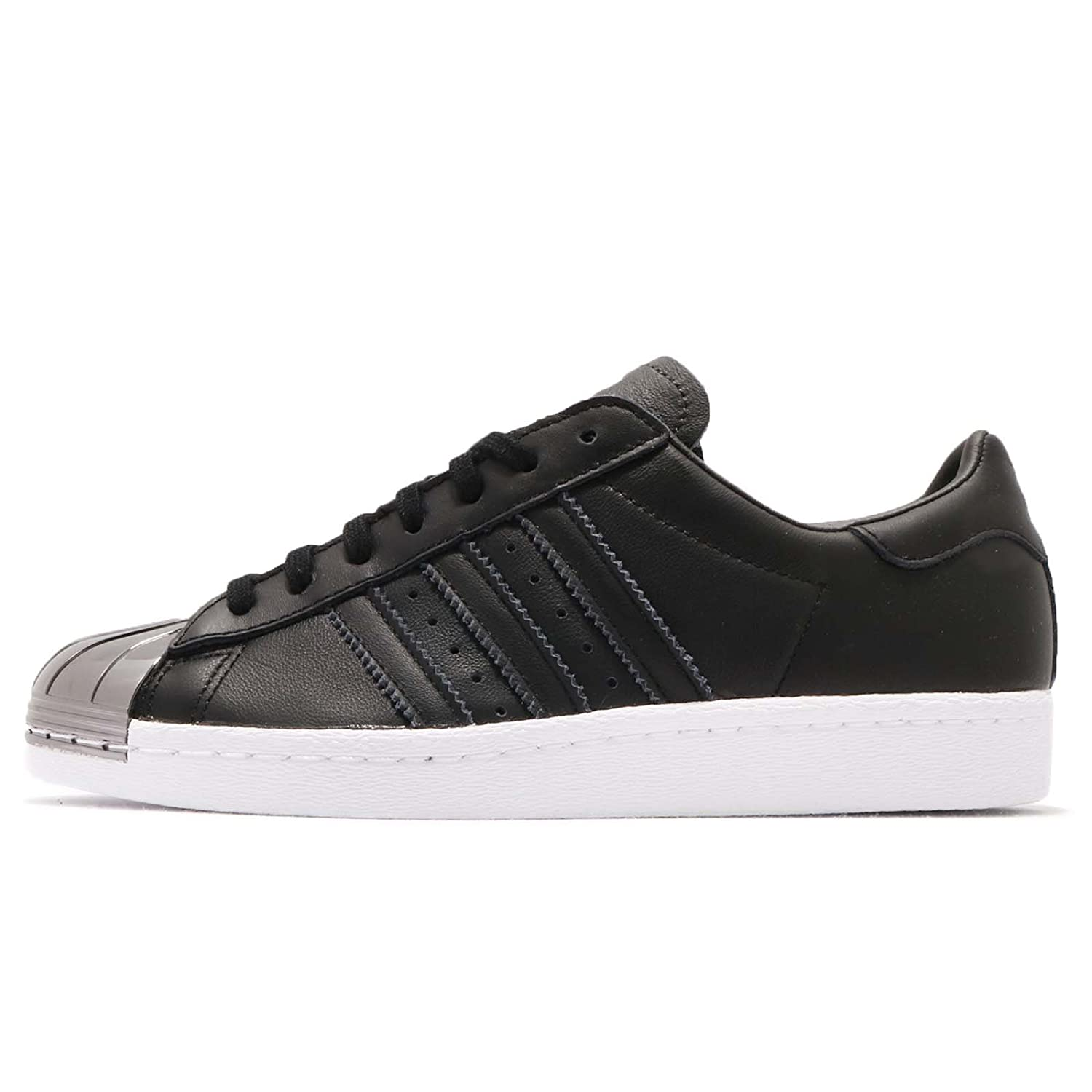 Metal Toe Footwear Adidas Superstar 5 Black Trainers Women's Us6 80s Originals Core QCshdtr