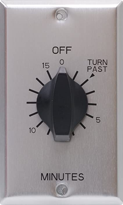 GE Countdown Timer, in Wall Mechanical Switch, Spring Wound, Up to 15, Auto Shut Off, 1-Minute Intervals, No Neutral Wire Needed, Ideal for Lights, Exhaust Fans, and Heaters, 15303