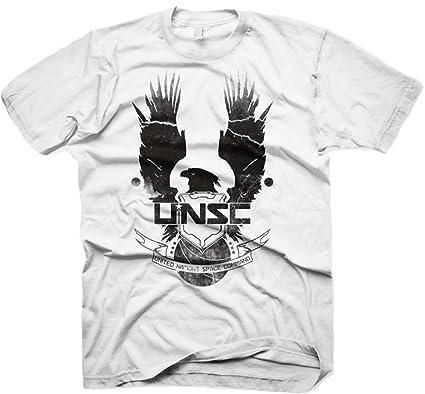 halo 4 new unsc logo extra large t shirt white amazon co uk clothing