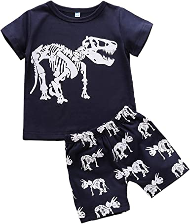 Weiyun Infant Baby Boys Girls Long Sleeve Animal Print Tops Pants Outfits Clothes