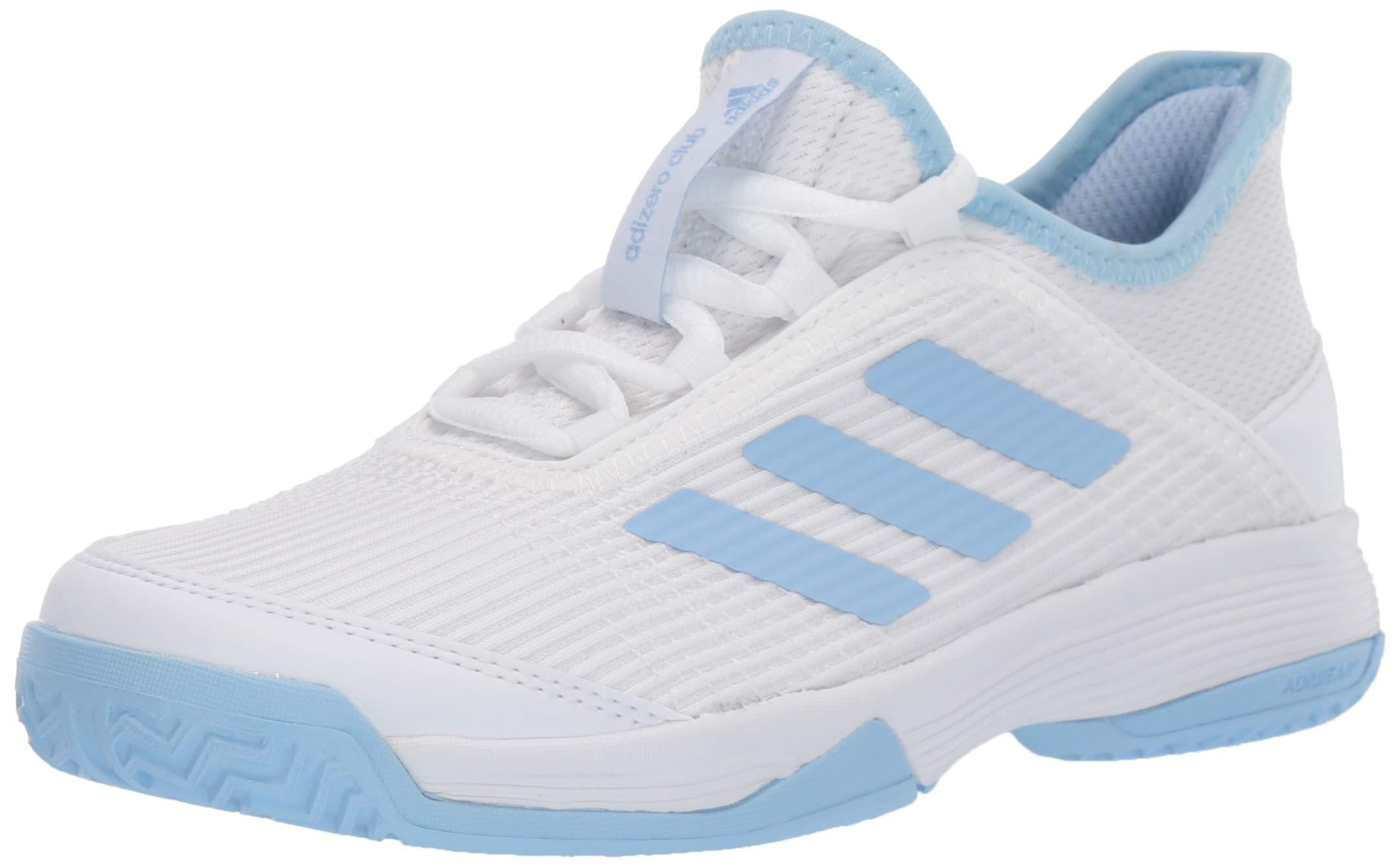 adidas Unisex Adizero Club Tennis Shoe, Glow Blue/White, 13K M US Little Kid