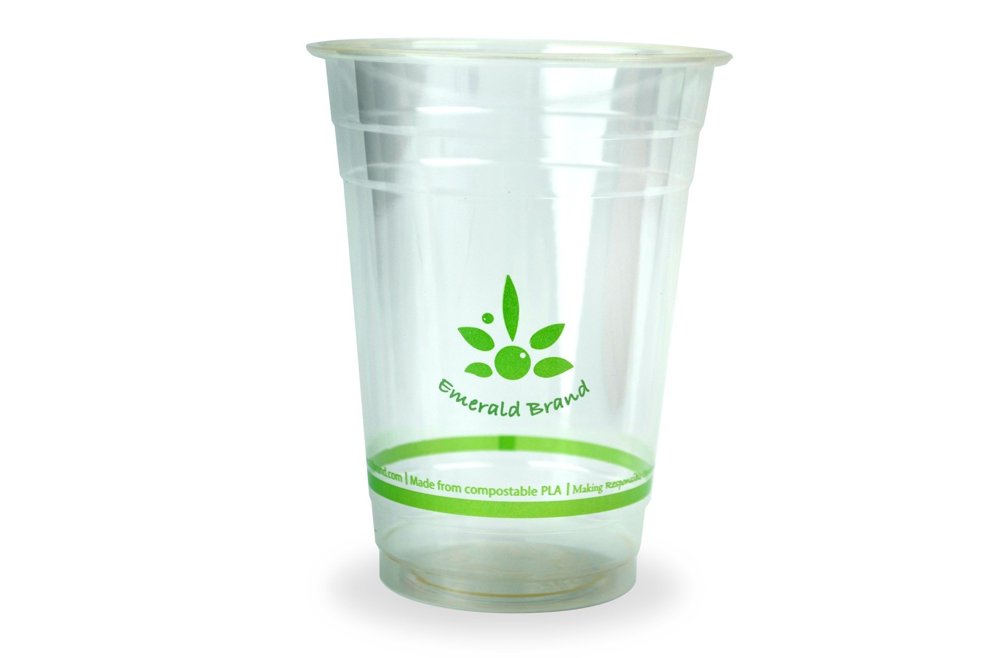 Emerald EMRPLA16 Compostable Cold Cups (Pack of 1000), 16 oz., Clear