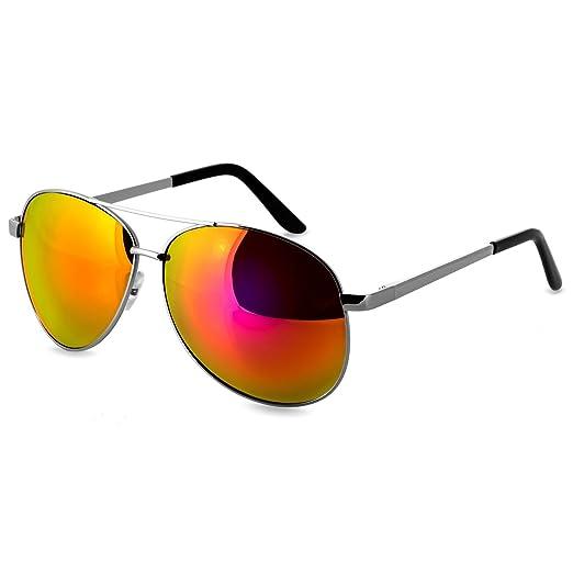 CASPAR SG023 Unisex Large Pilot Sunglasses Tinted or Mirrored Lenses Men Women