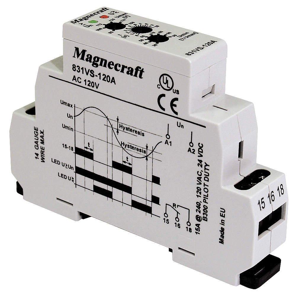 Relay, Voltage Sensing, SPDT, DIN Rail