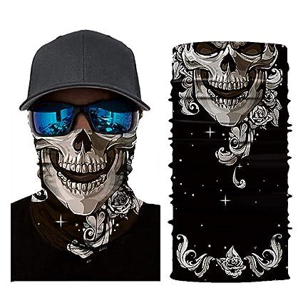 Face shield//multifunktionstuch herren//schlauchtuch//motorrad halstuch f/ür Motorrad Ski Snowboard Snowboard Paintball Fahrrad Bergsteigen Trekking Skateboarden Angeln