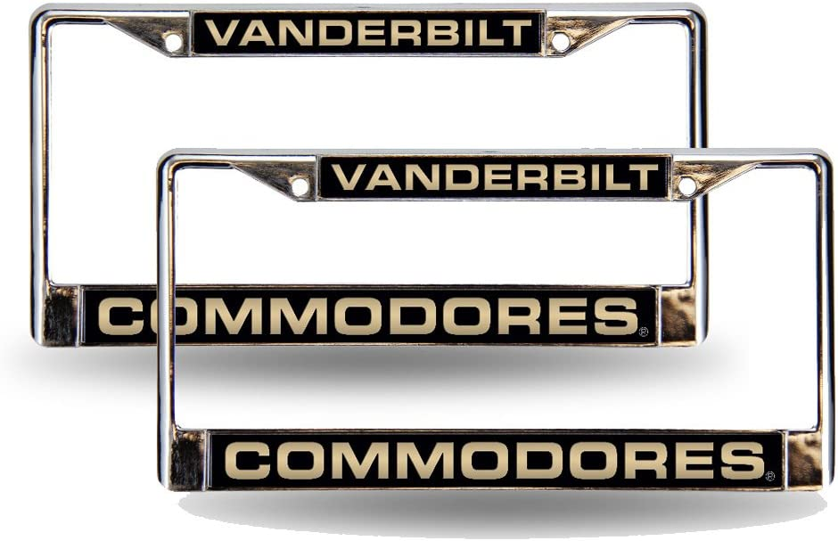 Rico Industries NCAA Vanderbilt Commodores Standard Chrome License Plate Frame