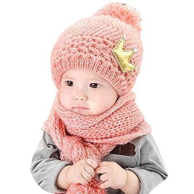 pour 2-12 mois bébé, Amlaiworld Coiffe en laine chaude capuche écharpe +  Casquettes fc2b5e34e38